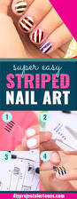 how to paint perfectly striped nails diy projects for teens