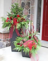 Outdoor Planter Ideas by Outdoor Christmas Planter Outdoor Christmas Planters Pinterest
