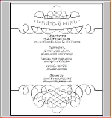 wedding menu template 8 wedding menu template procedure template sle