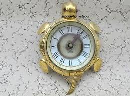 Nautical Desk Clock Nautical Maritime Antique Table Desk Turtle Clock With Brass Watch