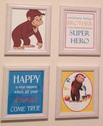 Curious George Curtains Curious George Baby Room Pinned And Completed Pinterest