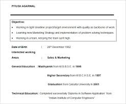 Marketing Intern Resume Sample by Resume Objectives U2013 46 Free Sample Example Format Download
