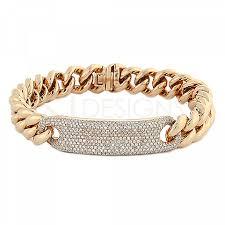 gold link bracelet with diamonds images Pave diamond id bracelet with chunky link gold chain png