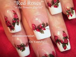 nail art designs nail art designs red roses diy tutorial