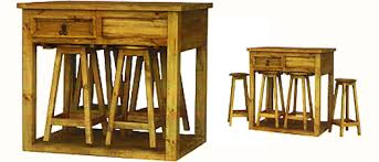 kitchen island table with stools rustic dining room furniture