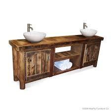Rustic Bathroom Vanity by Barnwood Rustic Vanity Double Mayfly Furniture Co