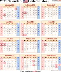 2021 calendar for the usa with us federal holidays