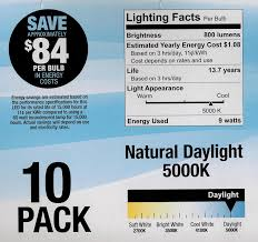 Led Light Bulbs Lumens by Feit 9w Led Light Bulbs 60w Equivalent 800 Lumens Natural Day