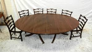 ANTIQUE FURNITURE WAREHOUSE Antique Regency Oval Pedestal Table - Antique white oval pedestal dining table