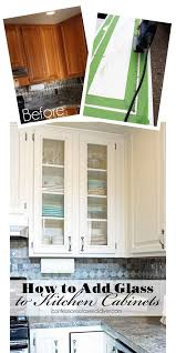 diy kitchen cabinet doors with glass how to add glass to cabinet doors cheap kitchen makeover