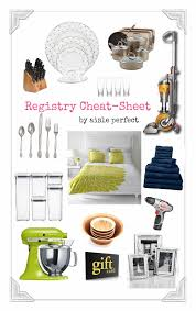 bridal registry gifts wedding registry sheet must haves for your list