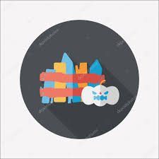 icon halloween halloween decoration flat icon with long shadow eps10 u2014 stock