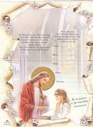 communion invitations for girl buy 10 tri fold communion invitations with envelopes girl