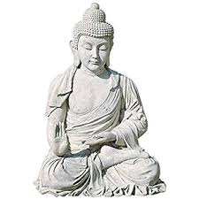 sitting buddha faux sandstone 29 1 2 h outdoor statue