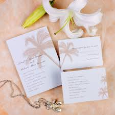 beach theme coconut tree destination wedding invitation cards