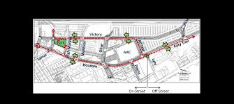 aac map houston and victory avenue convert to two way traffic