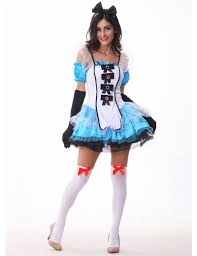 halloween costume maid womens alice in wonderland costume maids carnival fancy