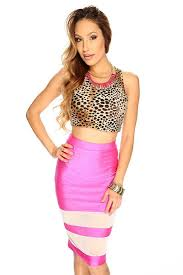 womens clothing club dresses neon pink cut out rave tube dress