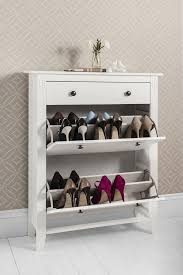 Hallway Shoe Storage Cabinet Shoe Storage Cabinet Deluxe With Storage Drawer Cotswold In White