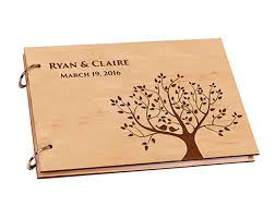 personalized wooden gifts personalized wooden diy wedding guest book for signature custom