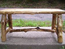 Rustic Log Benches - log cabin furniture ebay