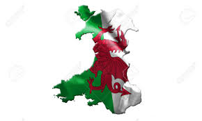 Map Of Wales Map Of Wales With Flag Of Country On It Isolated On White