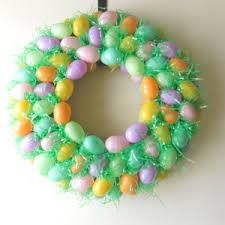 styrofoam easter eggs diy easter egg wreath anchored