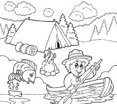 boy scouts fishing coloring pages boy scouts fishing