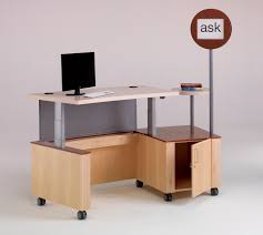 Mobile Reception Desk by Technolink Mobile Reference Desk Demco Interiors