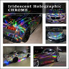 holographic car iridescent holographic laser cut neon chrome chameleon vehicle
