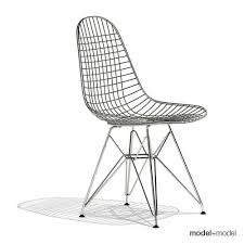 eames wire chair dkr 3d model cgtrader