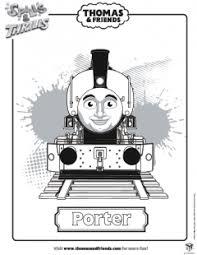 porter colouring picture thomas u0026 friends ichild