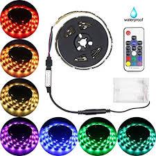 dsi indoor outdoor led flexible lighting strip amazon com led strip lights battery powered abtong rgb led strip