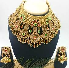 necklace choker design images Premium designer polki and kundan studded broad padmavat choker jpg