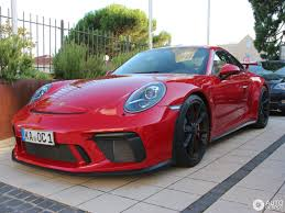 carmine red 2018 porsche 911 gt3 is a sight for sore eyes
