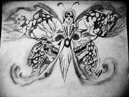 skull buddha butterfly by pznkitty on deviantart