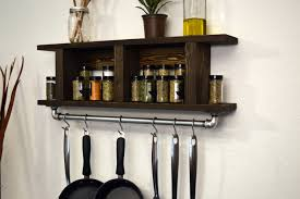 Wall Mount Spice Racks For Kitchen Kitchen Wall Mounted Kitchen Shelves Intended For Gratifying