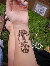 peace tree drawing by henna tattoos ogden utah