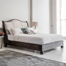frank hudson safari king linen upholstered low end bed frame