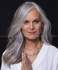 trendy gray hair styles long hairstyles over 50 long hairstyle for grey hair trendy