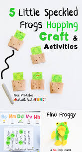 5 little speckled frogs craft and activities