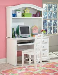 White Desk With Hutch Bayfront White Student Desk With Hutch From New Classics 1415 091