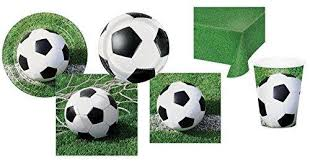 soccer party supplies soccer party supplies for 16 guests plates cups napkins