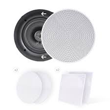 home theater speakers in wall or ceiling amazon com pyle ceiling speakers stereo home theater speakers