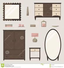 classic wardrobe wardrobe set classic wardrobe elements stock vector image