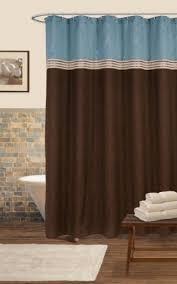 Lush Shower Curtains Lush Decor Terra Shower Curtain Blue Chocolate 72 X