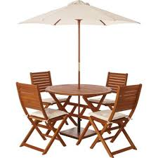 Folding Wooden Garden Table Peru 4 Seater Wooden Garden Furniture Set With Folding Chairs