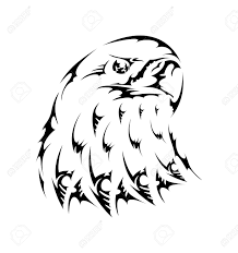 vector tattoo bird tribal eagle emblem royalty free cliparts