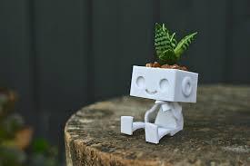 succulent planters for sale 3dprinted cute robot succulent planter