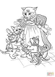 three little kittens coloring page funycoloring